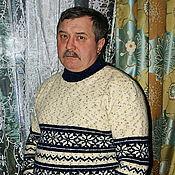 """Одежда ручной работы. Ярмарка Мастеров - ручная работа Мужской свитер в подарок """"Снежный"""". Handmade."""