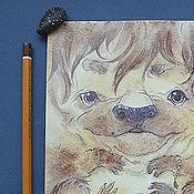Картины и панно ручной работы. Ярмарка Мастеров - ручная работа О, боже зверюга. Handmade.