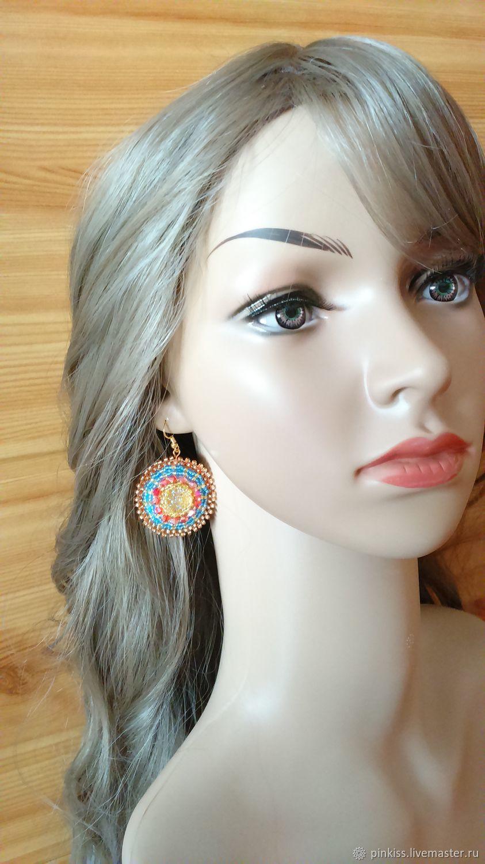Boho colored light earrings, Earrings, Podolsk,  Фото №1