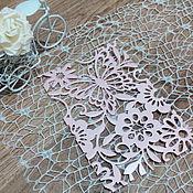 Материалы для творчества handmade. Livemaster - original item !Cutting for scrapbooking -BACKGROUND-magic Garden butterfly. Handmade.