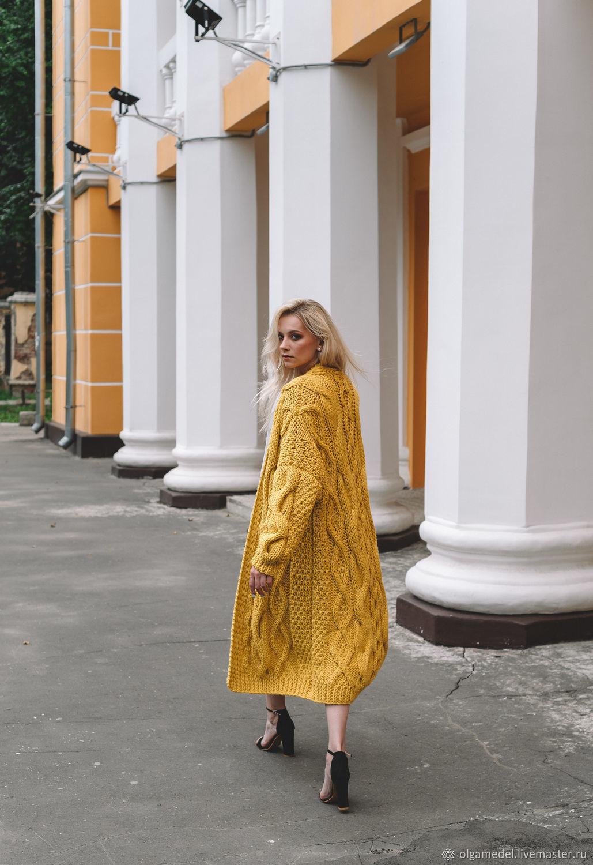 cardigans: Women's cardigan oversize pleasant yellow color, Cardigans, Yoshkar-Ola,  Фото №1