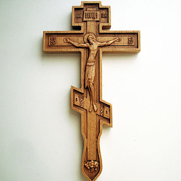 Pictures and panels handmade. Livemaster - original item Carved Orthodox cross. Handmade.