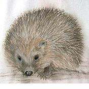 Одежда handmade. Livemaster - original item T-shirt with Hedgehogs. Handmade.