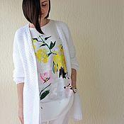 "Одежда ручной работы. Ярмарка Мастеров - ручная работа Кардиган ""Summer white"". Handmade."