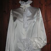 Blouses handmade. Livemaster - original item Blouse in Victorian style with delicate frill. Handmade.