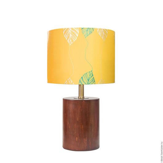 Настольная лампа с дизайнерским абажуром из коллекции Шары Дизайнерская, оригинальная, настольная лампа, абажур с принтом. Подарок для дома, подарок на свадьбу и новоселье.