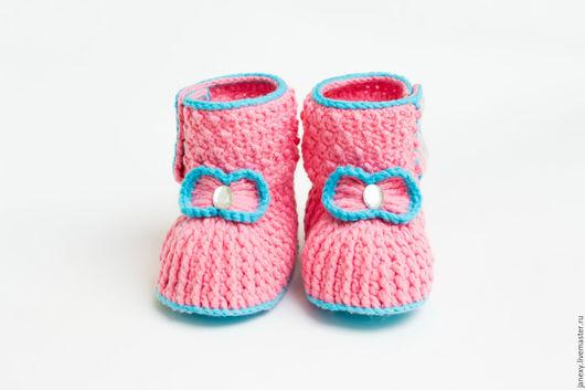 Для новорожденных, ручной работы. Ярмарка Мастеров - ручная работа. Купить Пинетки для новорожденных. Handmade. Комбинированный, ботиночки