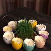 Свечи ручной работы. Ярмарка Мастеров - ручная работа Свеча в керамическом яйце. Handmade.