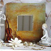 Для дома и интерьера ручной работы. Ярмарка Мастеров - ручная работа Зеркало декупаж  декоративная золото Мелодия любви. Handmade.