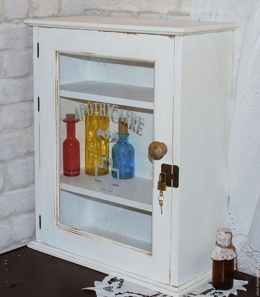 """Мебель ручной работы. Ярмарка Мастеров - ручная работа. Купить Аптечный шкафчик """"Доктор Борменталь"""". Handmade. Белый, хранение мелочей"""