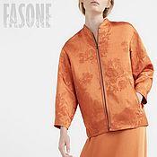 """Одежда ручной работы. Ярмарка Мастеров - ручная работа Бомбер оранжевый """"The Sun"""". Оранжевый бомбер. Оранжевый бомбер. Handmade."""