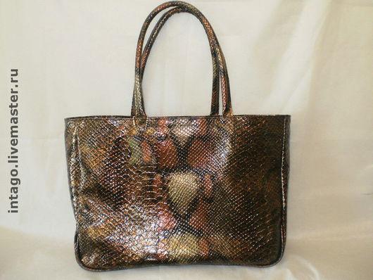 Handbags handmade. Livemaster - handmade. Buy Bag 'Anaconda'.Genuine leather, colored leather, patent leather with embossed