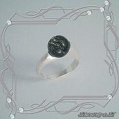 Украшения handmade. Livemaster - original item Ring Style natural rutilated quartz (925 sterling silver). Handmade.