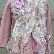 Одежда ручной работы. Ярмарка Мастеров - ручная работа Жилетик шелковый с флисом. Handmade.