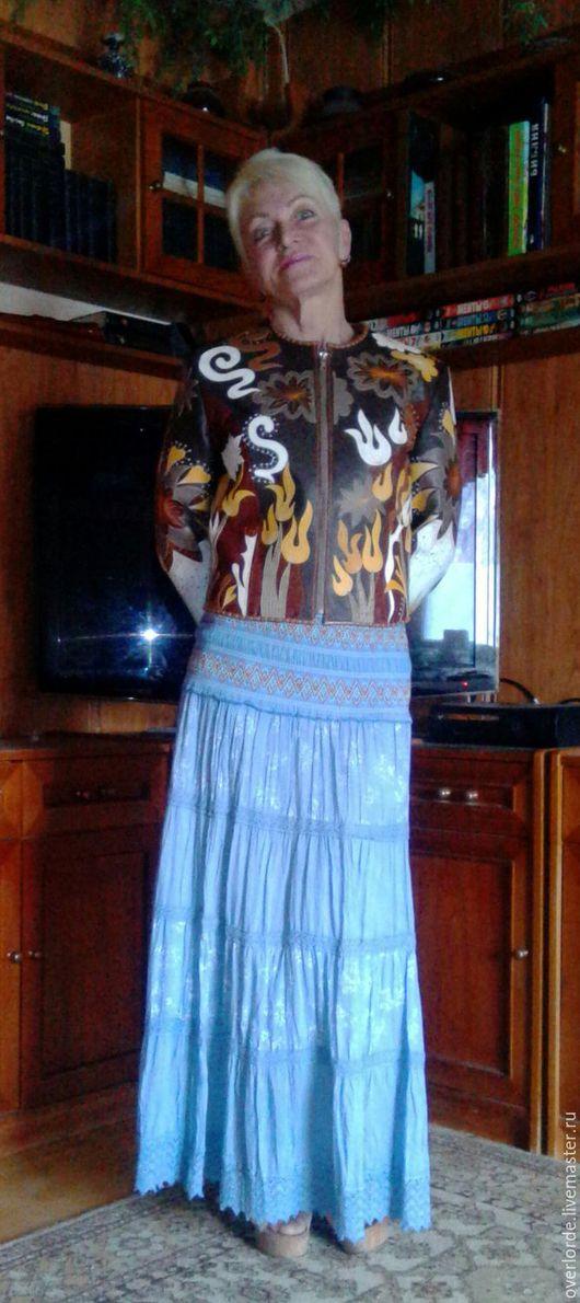 """Верхняя одежда ручной работы. Ярмарка Мастеров - ручная работа. Купить Курточка """"Жёлтые тюльпаны"""". Handmade. Аппликация, Праздник, зимняя"""