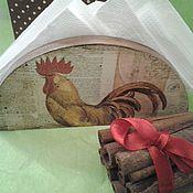 Подарки к праздникам ручной работы. Ярмарка Мастеров - ручная работа Салфетница Петя Петушок. Handmade.
