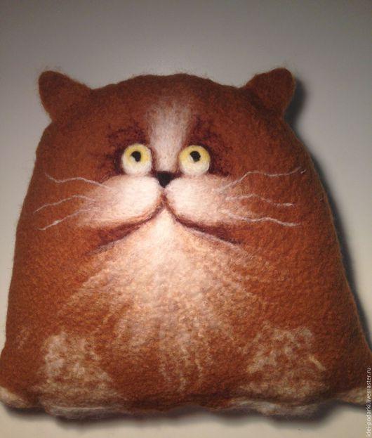 коричневый грелка подушка подушка в подарок подарок девушке подарок подарок женщине подарок на любой случай подарок на день рождения подарок на новый год оригинальный подарок теплый кот к