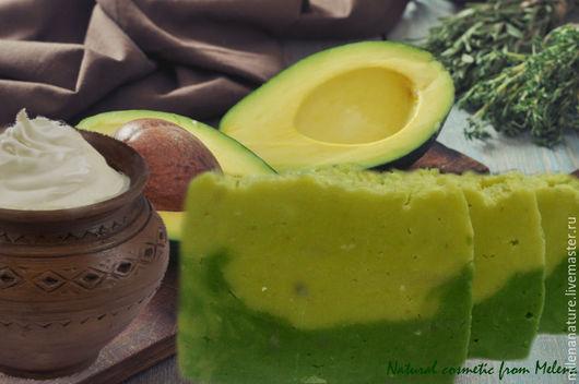 """Мыло ручной работы. Ярмарка Мастеров - ручная работа. Купить """"Авокадо и сливки"""" натуральное сливочное мыло с нуля. Handmade. Зеленый"""
