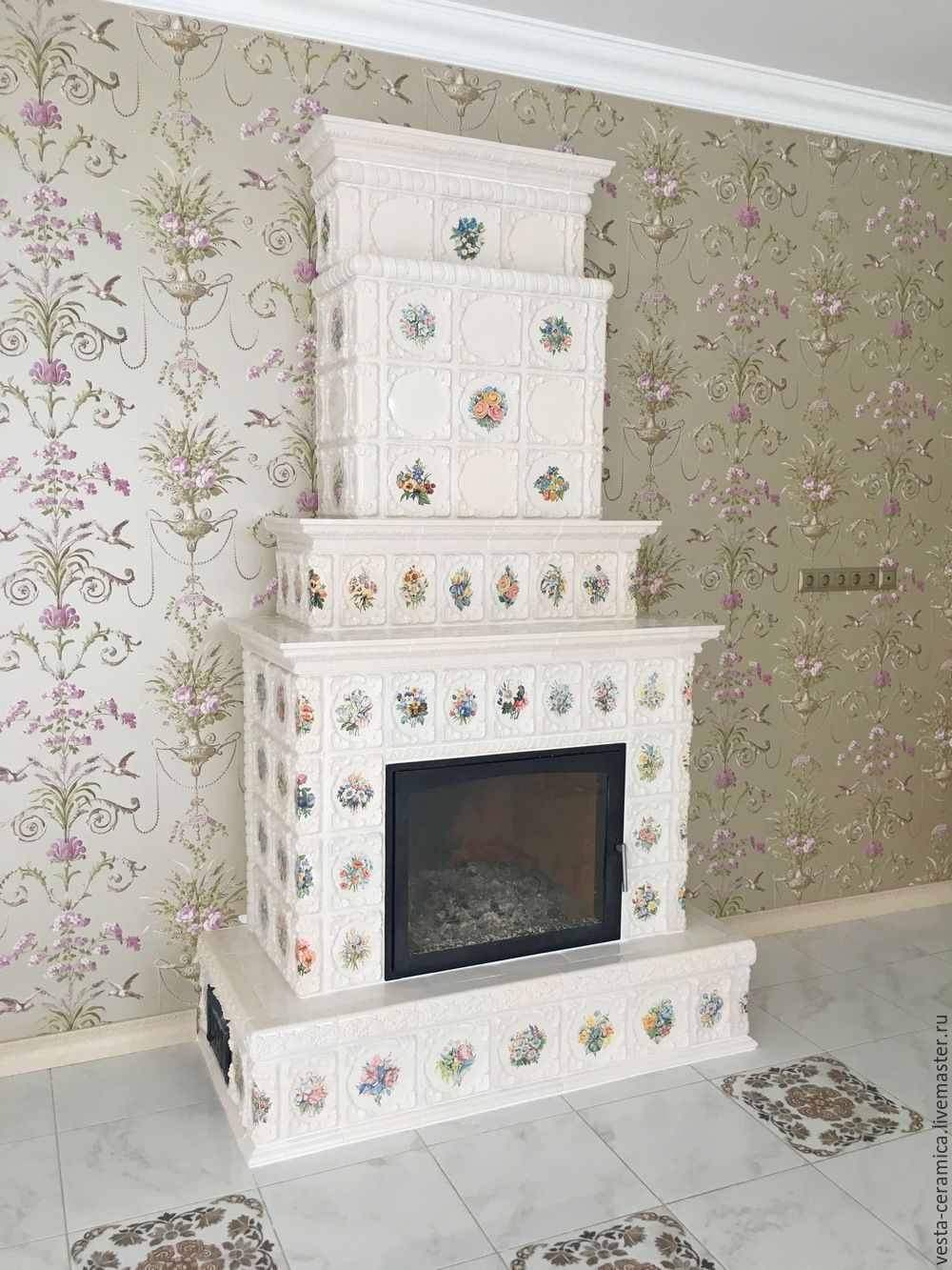 Tiled fireplace 'blyumen', Fireplaces, Moscow,  Фото №1