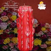 """Сувениры и подарки ручной работы. Ярмарка Мастеров - ручная работа Резная свеча """"Счастье"""" высотой 22 см.. Handmade."""