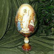 Сувениры и подарки handmade. Livemaster - original item Easter egg painting the Resurrection of Christ egg painting. Handmade.
