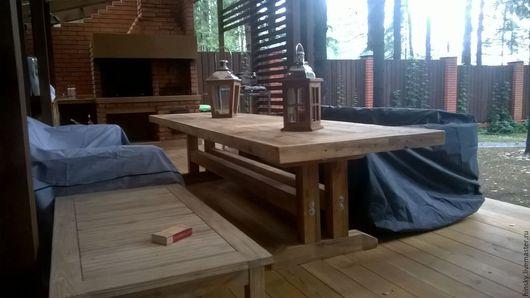 Мебель ручной работы. Ярмарка Мастеров - ручная работа. Купить Обеденный стол. Handmade. Стол, интерьер, дерево, кухня, браширование