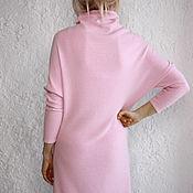 Одежда ручной работы. Ярмарка Мастеров - ручная работа Платье из кашемира Роза. Handmade.