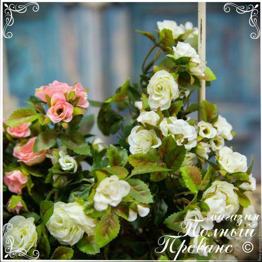 Материалы для флористики ручной работы. Ярмарка Мастеров - ручная работа. Купить Букет миниатюрной розы 8 стеблей. Handmade. Белый