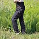 Брюки, шорты ручной работы. Заказать Штаны с высокой талией Комби из костюмной ткани с карманами Серый с ко. Каторина Рукодельница HandMadeButik. Ярмарка Мастеров.