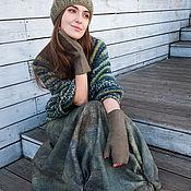 """Одежда ручной работы. Ярмарка Мастеров - ручная работа Юбка валяная """"Оливковая роща"""". Handmade."""