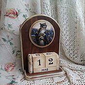 """Для дома и интерьера ручной работы. Ярмарка Мастеров - ручная работа Вечный календарь """"Коты в Питере"""". Handmade."""