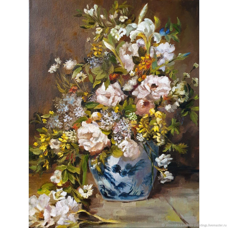 Натюрморт с большой цветочной вазой, Картины, Москва,  Фото №1