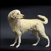 """Куклы и игрушки ручной работы. Ярмарка Мастеров - ручная работа фигурка """"золотистый ретривер"""" (статуэтка собаки золотистого ретривера). Handmade."""