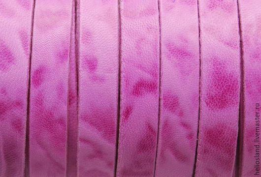 Для украшений ручной работы. Ярмарка Мастеров - ручная работа. Купить Кожаный шнур плоский 13х2 мм винтаж. Handmade.