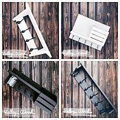 Для дома и интерьера handmade. Livemaster - original item Shelves: wall-mounted with hooks. Handmade.