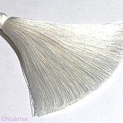 Материалы для творчества ручной работы. Ярмарка Мастеров - ручная работа Кисти для украшений белые 8-8,5 см k123. Handmade.