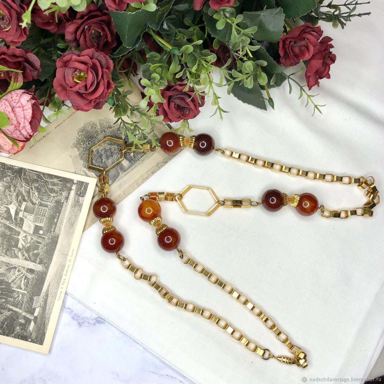 Винтаж: Ожерелье-цепь Бакелит. 1940 гг. США, Винтажные украшения, Москва, Фото №1