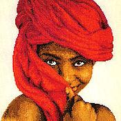 Картины и панно ручной работы. Ярмарка Мастеров - ручная работа Африканская девушка.. Handmade.