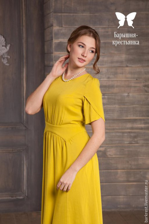 Платья ручной работы. Ярмарка Мастеров - ручная работа. Купить Бананово-лимонный Сингапур. Handmade. Желтый, яркое платье