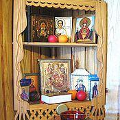 Русский стиль ручной работы. Ярмарка Мастеров - ручная работа полочка для икон. Handmade.