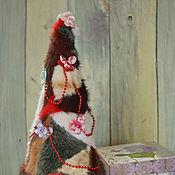 """Подарки к праздникам ручной работы. Ярмарка Мастеров - ручная работа Сувенирная ёлка из натурального меха """"Праздничная"""". Handmade."""