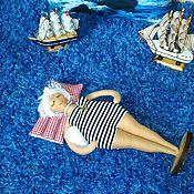 Куклы и игрушки ручной работы. Ярмарка Мастеров - ручная работа Кукла Анфиса, вернулась из Туниса. Море. Отпуск. Волна. Handmade.