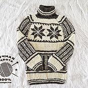 Одежда handmade. Livemaster - original item Handmade knitted sweater made of 100% sheep wool with ornament (No. №671). Handmade.