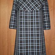 Одежда ручной работы. Ярмарка Мастеров - ручная работа Платье клетчатое. Handmade.