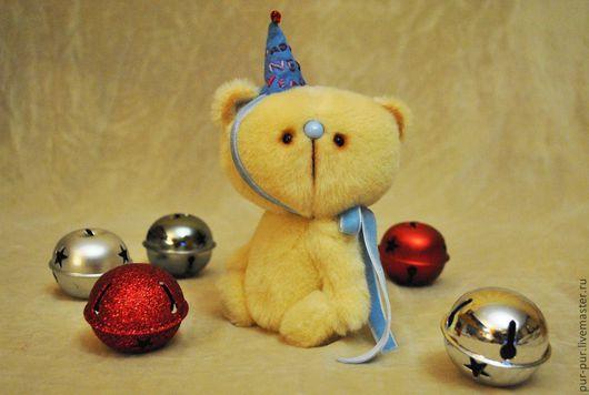 Мишки Тедди ручной работы. Ярмарка Мастеров - ручная работа. Купить Беня (новогодний милаха:-)). Handmade. Желтый
