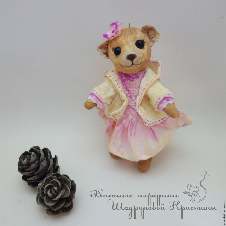 Cotton Christmas toy Bear-Cutie, Christmas decorations, St. Petersburg,  Фото №1