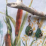 Серьги классические ручной работы. Ярмарка Мастеров - ручная работа Серьги классические: Лягушка-путешественница. Handmade.