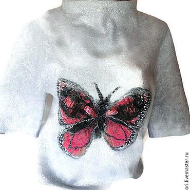 Одежда ручной работы. Ярмарка Мастеров - ручная работа Туника валяная Крылья бабочки. Handmade.