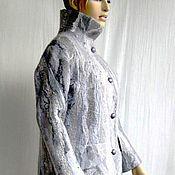 Одежда ручной работы. Ярмарка Мастеров - ручная работа Пальто валяное Серая жемчужина. Handmade.