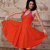 """Одежда ручной работы. Ярмарка Мастеров - ручная работа Ретро платье в стиле 50-х  """"Цветущий мандарин"""". Handmade."""